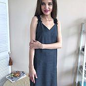 Одежда ручной работы. Ярмарка Мастеров - ручная работа Платье комбинация с лямочками из объёмного кружева и бусин. Handmade.