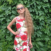 Работы для детей, ручной работы. Ярмарка Мастеров - ручная работа Детское платье трапеция из хлопка. Handmade.