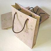 Сувениры и подарки ручной работы. Ярмарка Мастеров - ручная работа Пакет из крафт-бумаги, 18х11х3 см. Handmade.