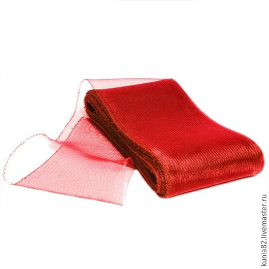 Кринолин / Регилин мягкий ширина 16 см цвет КРАСНЫЙ полуфабрикат для изготовления шляп и головных уборов. Анна Андриенко. Ярмарка Мастеров.