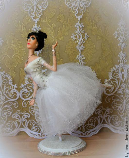 """Коллекционные куклы ручной работы. Ярмарка Мастеров - ручная работа. Купить Авторская кукла """"Балерина"""". Handmade. Белый, living doll"""