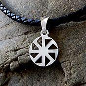 Украшения handmade. Livemaster - original item Pendant/Amulet Kolovrat of silver 925. Handmade.