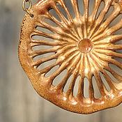 """Украшения handmade. Livemaster - original item Pendant """"Taiga sun"""". Handmade."""