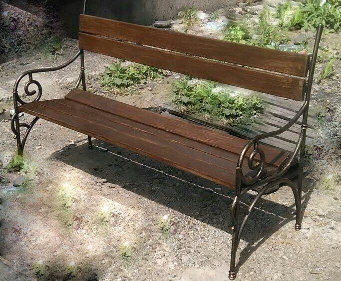 Лавочка кованная, Скамейки для сада, Новосибирск,  Фото №1