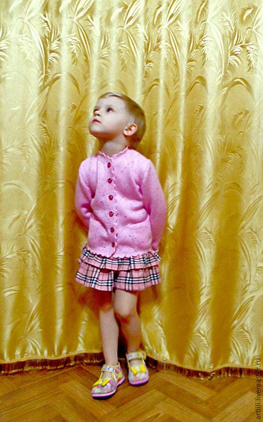 """Одежда для девочек, ручной работы. Ярмарка Мастеров - ручная работа. Купить Вязаная детская кофта на пуговицах  """"Нежная"""". Handmade."""