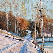Картины и панно ручной работы. Ярмарка Мастеров - ручная работа Картина маслом, зимний пейзаж. Handmade.
