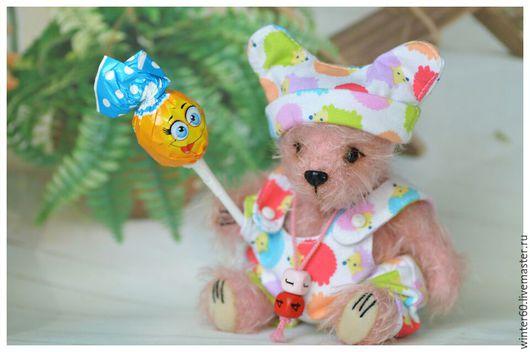 Мишки Тедди ручной работы. Ярмарка Мастеров - ручная работа. Купить Медвежонок Розовое облачко. Handmade. Бледно-розовый, теддик
