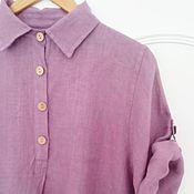 Одежда ручной работы. Ярмарка Мастеров - ручная работа Блуза Лавандин, лен 100%. Handmade.