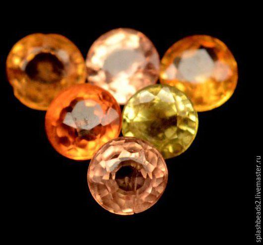 Для украшений ручной работы. Ярмарка Мастеров - ручная работа. Купить Сапфир желтый оранжевый 1,31Сt сет 10шт ювелирные вставки. Handmade.
