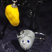 """Украшения ручной работы. Ярмарка Мастеров - ручная работа Серьги лэмпворк """"Мышкино счастье"""". Handmade."""