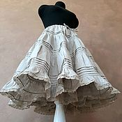 Одежда handmade. Livemaster - original item Skirt - petticoat made of unbleached linen. Handmade.