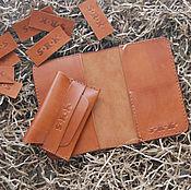 Сумки и аксессуары handmade. Livemaster - original item Leather gift set. Passport cover and card holder. Handmade.