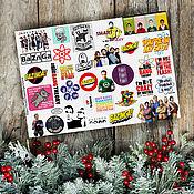 Материалы для творчества handmade. Livemaster - original item Stickers series Theory, Cavum, Choir, losers, Friends Clinic. Handmade.