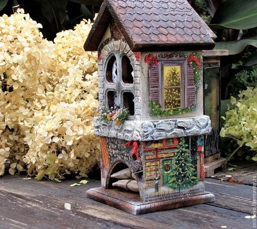 """Кухня ручной работы. Ярмарка Мастеров - ручная работа. Купить Чайный домик 2 из зимней коллекции """"Мой зеленый Новый год"""". Handmade."""