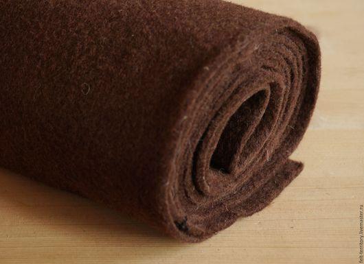 Валяние ручной работы. Ярмарка Мастеров - ручная работа. Купить Фетр рулонный коричневый. Handmade. Коричневый, темно-коричневый, фетр