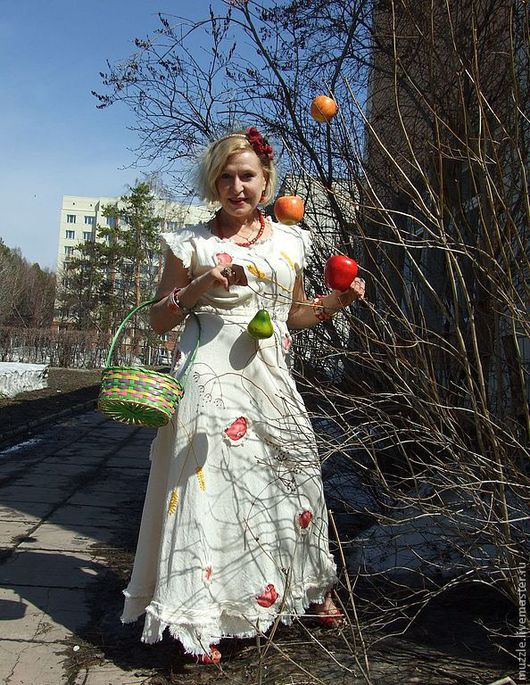 Платья ручной работы. Ярмарка Мастеров - ручная работа. Купить Яблочный спас №3. Handmade. Платье
