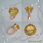 Украшения handmade. Livemaster - original item RING (RING) - CORONA gold 585,diamonds,citrine.. Handmade.