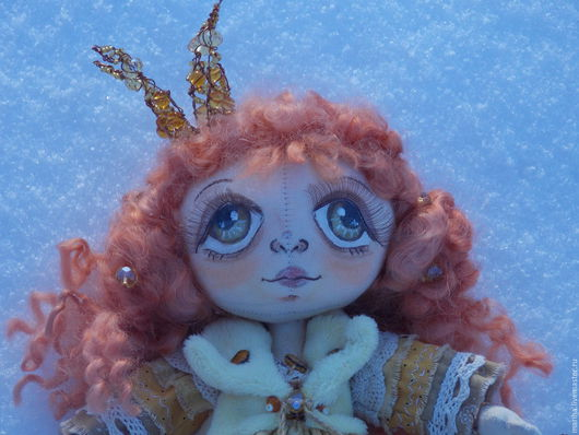 Куклы тыквоголовки ручной работы. Ярмарка Мастеров - ручная работа. Купить Девочка Принцесса. Handmade. Тыквоголовка, кукла текстильная, кукла
