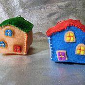 """Подарки к праздникам ручной работы. Ярмарка Мастеров - ручная работа Елочная игрушка """"Домик"""". Handmade."""