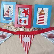 Для дома и интерьера ручной работы. Ярмарка Мастеров - ручная работа Морской набор для мальчика. Handmade.