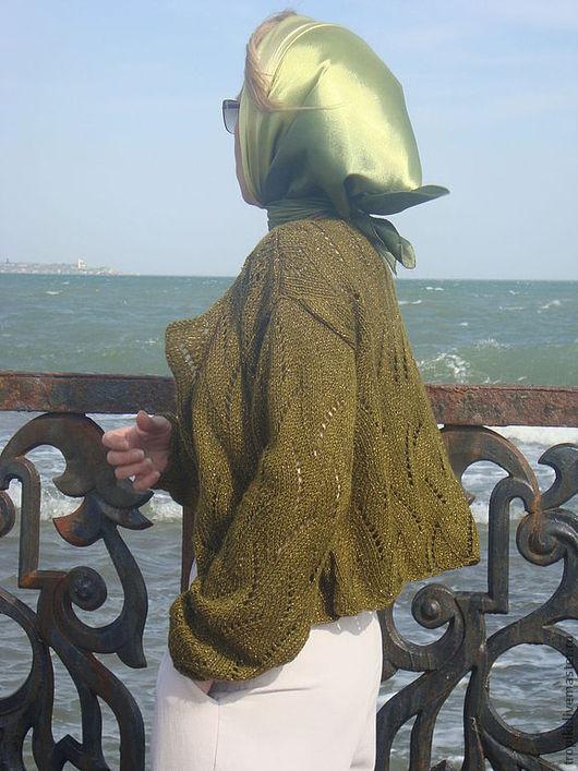 Пиджаки, жакеты ручной работы. Ярмарка Мастеров - ручная работа. Купить ажурный жакетик. Handmade. Зеленый, ажурная кофточка, спицы