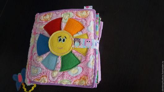 Развивающие игрушки ручной работы. Ярмарка Мастеров - ручная работа. Купить Варюшкина книжка. Handmade. Комбинированный, хлопок