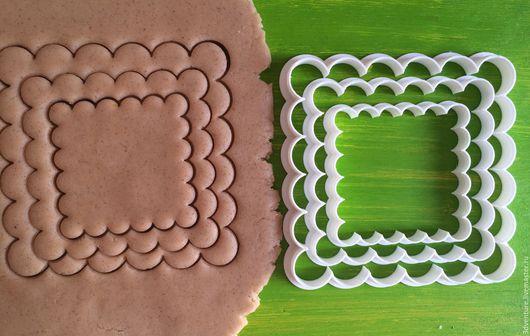 Кухня ручной работы. Ярмарка Мастеров - ручная работа. Купить Форма для печенья Рамка с кружками (набор из 3-х штук). Handmade.