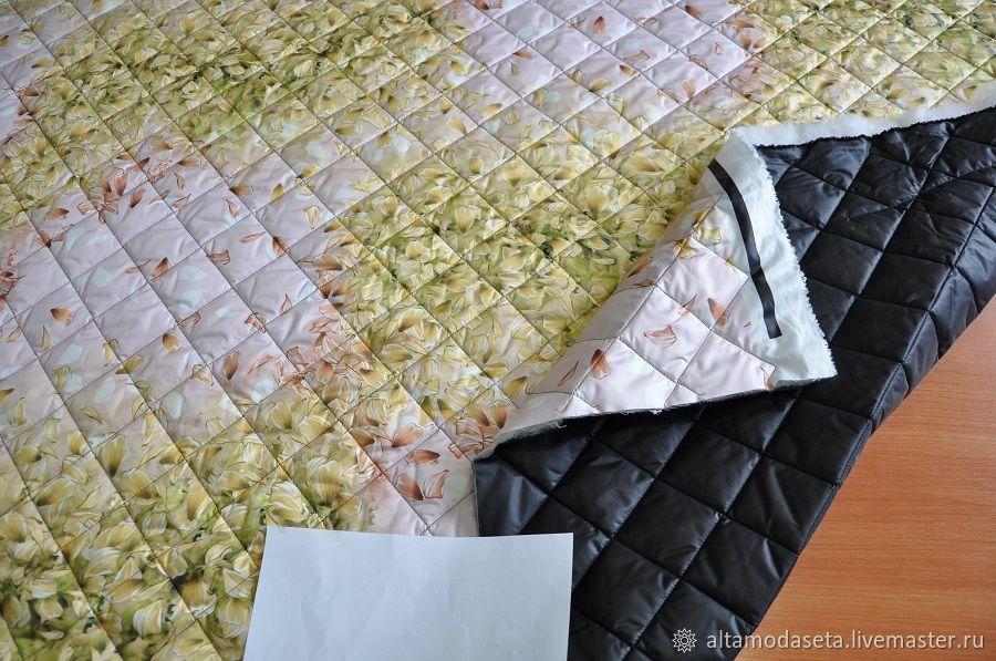 Ткань для куртки с цветами, Ткани, Москва,  Фото №1
