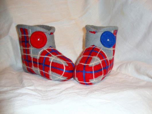 """Обувь ручной работы. Ярмарка Мастеров - ручная работа. Купить Валеночки """"Счастье в клеточку"""". Handmade."""