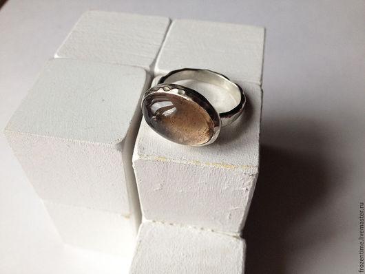 Кольца ручной работы. Ярмарка Мастеров - ручная работа. Купить Кофейная дымка 2. Handmade. Коричневый, натуральный камень, серебро