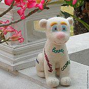 Куклы и игрушки ручной работы. Ярмарка Мастеров - ручная работа Игрушка валяная Львенок Счастья. Handmade.