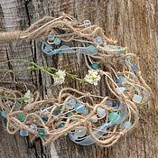 """Украшения ручной работы. Ярмарка Мастеров - ручная работа Ожерелье """"Голубое утро"""" (бохо-стиль). Handmade."""