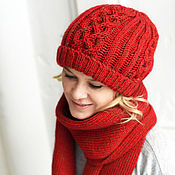 Аксессуары handmade. Livemaster - original item Cashmere scarf and hat