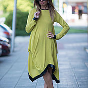 Одежда handmade. Livemaster - original item Spring cotton dress, warm Tunic - DR0145CK. Handmade.
