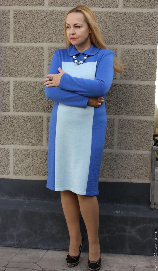 """Платья ручной работы. Ярмарка Мастеров - ручная работа. Купить Вязаное платье """"Играя с цветом"""". Handmade. Разноцветный, шерстяное платье"""