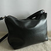 Сумки и аксессуары handmade. Livemaster - original item Leather bag. Crossbody bag. Hobo medium. black. Handmade.