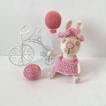 Куклы и игрушки ручной работы. Ярмарка Мастеров - ручная работа Зая   с   шариком.. Handmade.