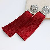 Украшения handmade. Livemaster - original item Red earrings with tassels. Handmade.