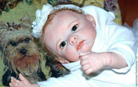 Куклы-младенцы и reborn ручной работы. Ярмарка Мастеров - ручная работа. Купить Лизонька - Снежинка. Handmade. Белый, винил