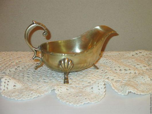 Винтажная посуда. Ярмарка Мастеров - ручная работа. Купить Старинный соусник ,марка. Handmade. Золотой, посуда из латуни, подарок женщине