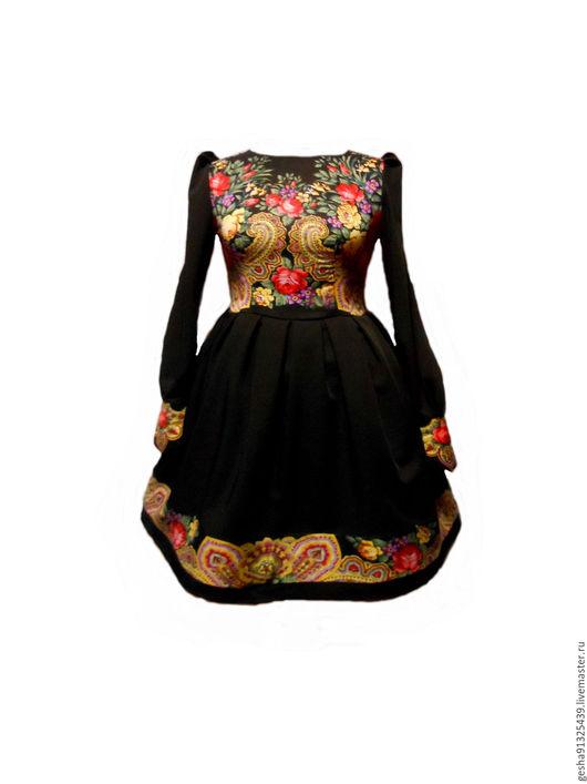 """Платья ручной работы. Ярмарка Мастеров - ручная работа. Купить Платье """"Аркадия"""" платок. Handmade. Черный, платье платок"""