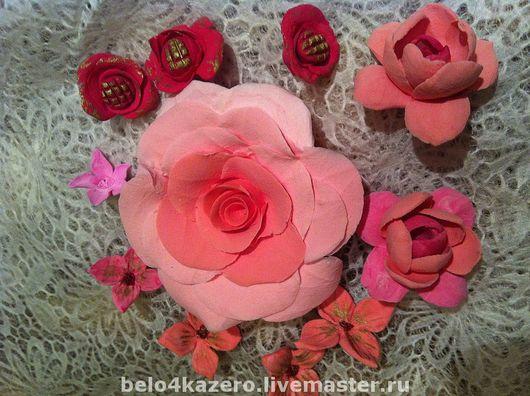 Броши ручной работы. Ярмарка Мастеров - ручная работа. Купить неувядающие розы. Handmade. Полимерная глина, ленты атласные