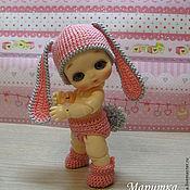 """Куклы и игрушки ручной работы. Ярмарка Мастеров - ручная работа Костюм """"Зайка моя"""" для куклы БЖД. Handmade."""
