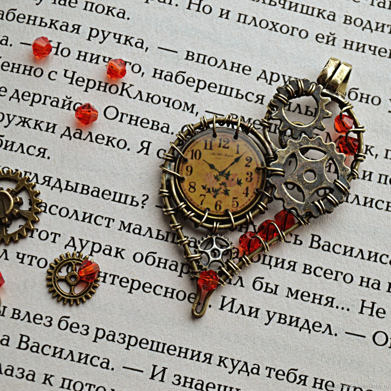 Chasodei pendant steampunk gear round pendants steampunk style, Pendants, Novoshahtinsk,  Фото №1