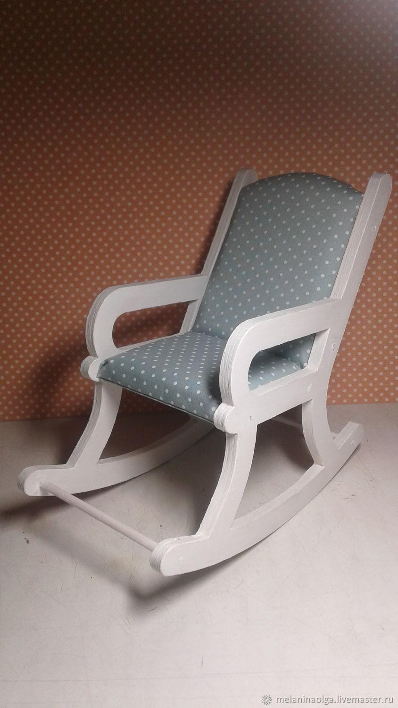 """Кресло-качалка """"Мятный горох"""", Мебель для кукол, Челябинск,  Фото №1"""