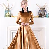 Одежда ручной работы. Ярмарка Мастеров - ручная работа Mon amour - женственное платье сшитое из бархатного удовольствия. Handmade.