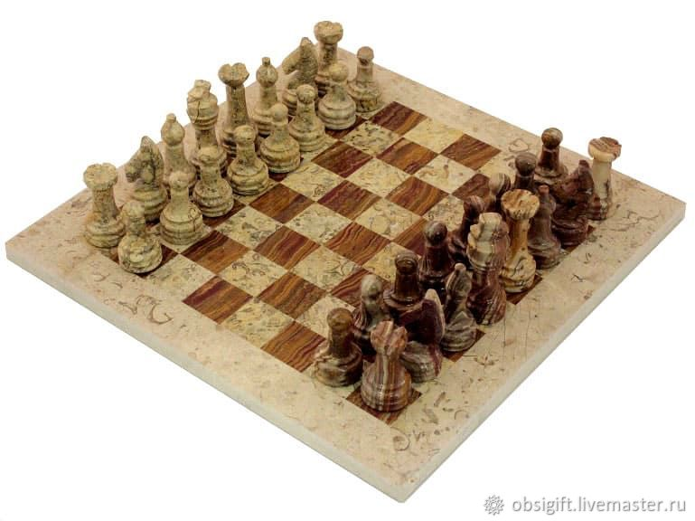 Jasper and Shell stone chess 30, PakShah, Chess, St. Petersburg,  Фото №1