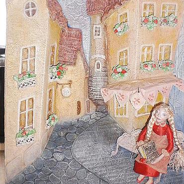 """Картины и панно ручной работы. Ярмарка Мастеров - ручная работа Панно """"Вечер в Ницце"""". Handmade."""