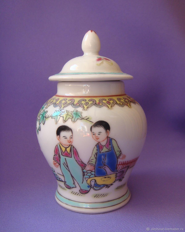 Old China porcelain vase vase vase Kids 1950s Rare vintage, Vintage interior, Saratov,  Фото №1