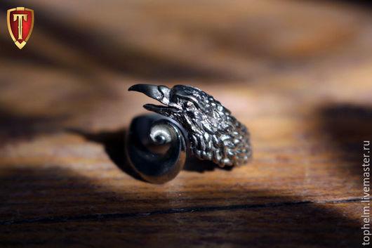 Кольца ручной работы. Ярмарка Мастеров - ручная работа. Купить Кольцо «Corvus corax». Handmade. Серебряный, птица, латунь